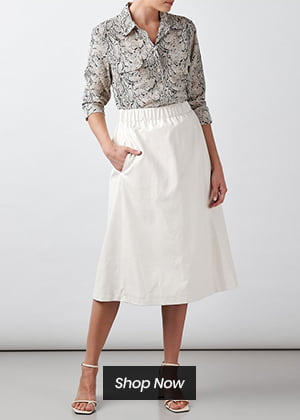 Helene Berman - Vegan Leather Skirt In Cream