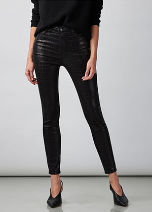J Brand - Leenah High-Rise Skinny Ankle In Caiman