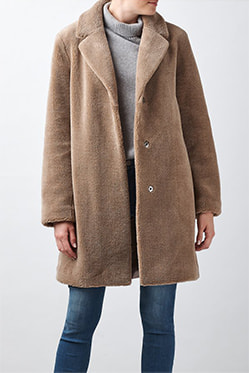 VEVLET - Trishelle Coat In Mink
