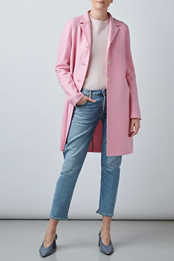 HARRIS WHARF LONDON - Boxy Coat In Pink