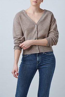 MADELEINE THOMPSON - Holly Cardigan In Oatmeal