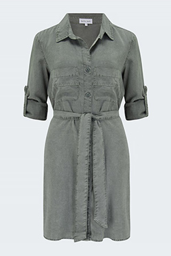 LILY & LIONEL - Shirt Tail Dress In Soft Army